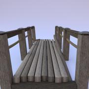 Vieux pont en bois 3d model