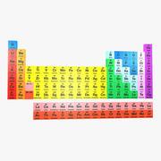 元素周期表3D 3d model