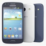 Samsung Galaxy Core azul e branco 3d model