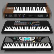 Mega Keyboard Synthesizer Model Pack: C4D Format 3d model