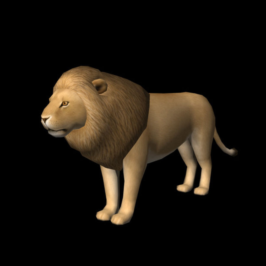 Löwe (männlich) royalty-free 3d model - Preview no. 2