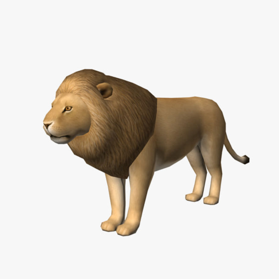 Löwe (männlich) royalty-free 3d model - Preview no. 1