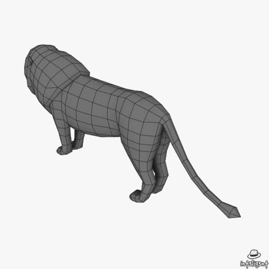 Lion (Male) royalty-free 3d model - Preview no. 8