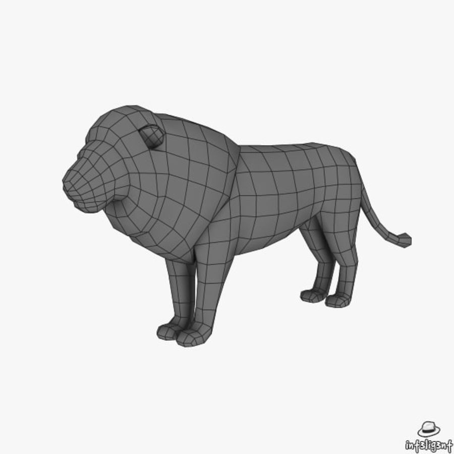 Lion (Male) royalty-free 3d model - Preview no. 6