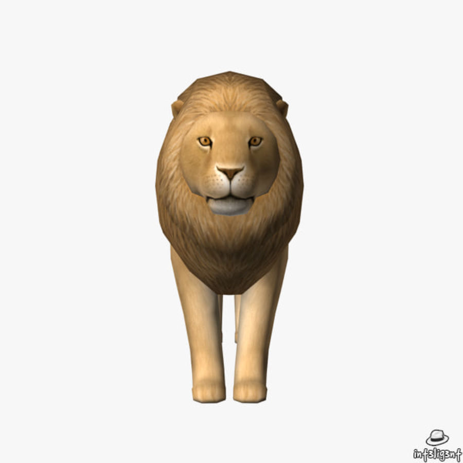 Löwe (männlich) royalty-free 3d model - Preview no. 3
