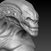 инопланетный бюст 3d model