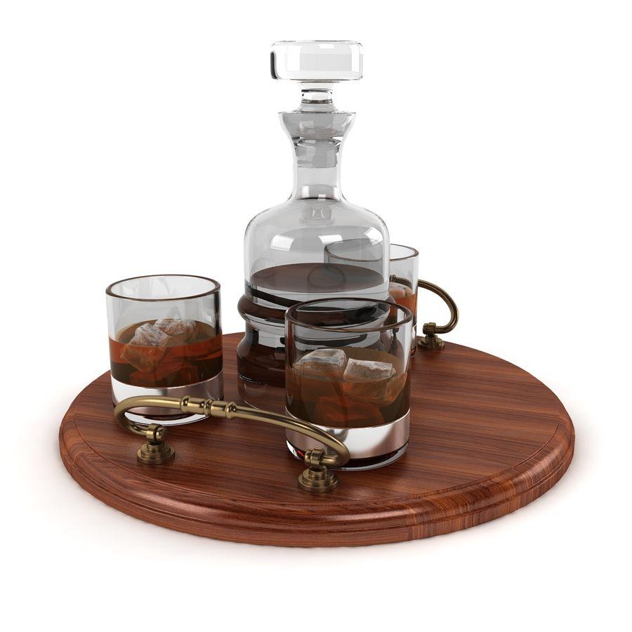 Whisky och serveringsbricka royalty-free 3d model - Preview no. 6