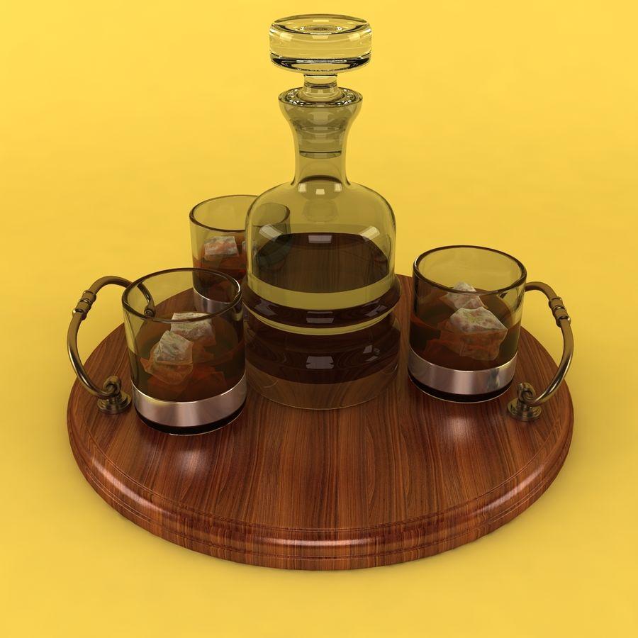 Whisky och serveringsbricka royalty-free 3d model - Preview no. 2