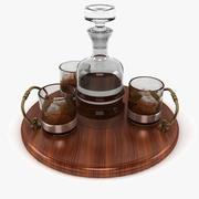 Whisky En Dienblad 3d model