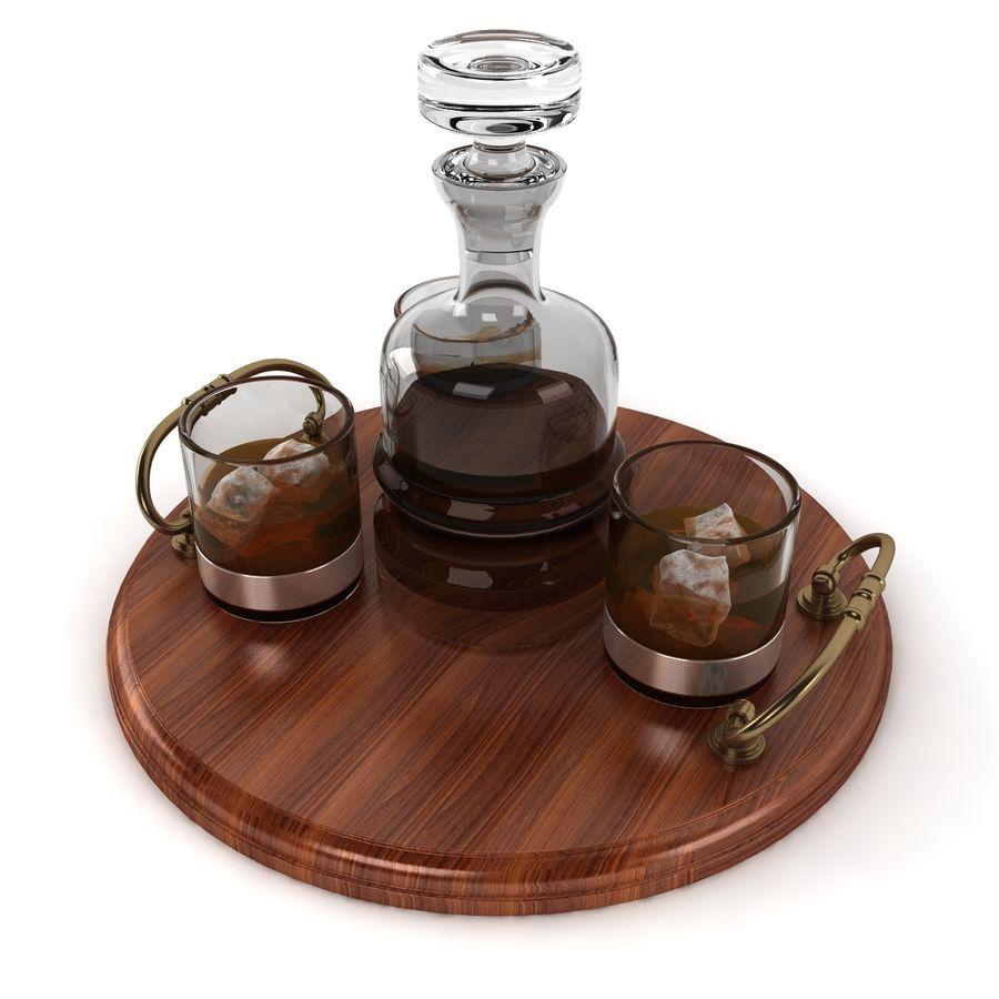 Whisky och serveringsbricka royalty-free 3d model - Preview no. 5