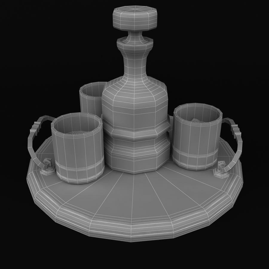 Whisky och serveringsbricka royalty-free 3d model - Preview no. 9