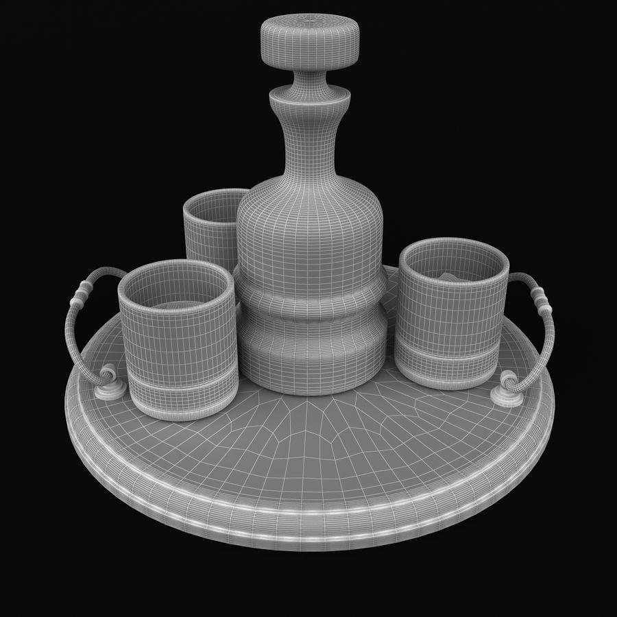 Whisky och serveringsbricka royalty-free 3d model - Preview no. 8
