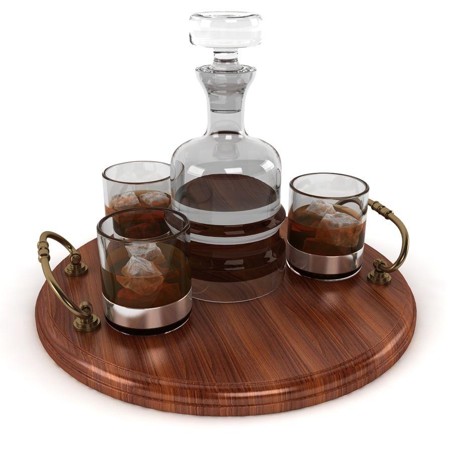 Whisky och serveringsbricka royalty-free 3d model - Preview no. 4