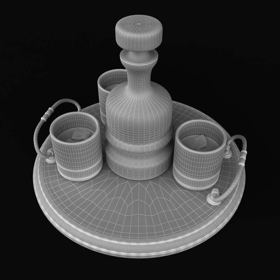 Whisky och serveringsbricka royalty-free 3d model - Preview no. 10