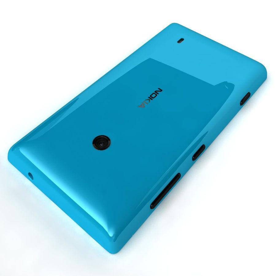Nokia Lumia 520 Blue royalty-free modelo 3d - Preview no. 19