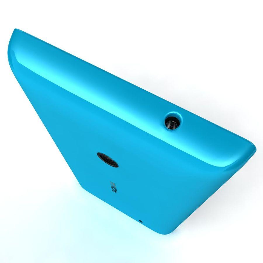 Nokia Lumia 520 Blue royalty-free modelo 3d - Preview no. 10