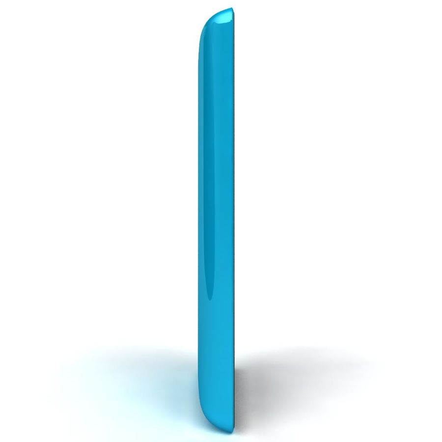 Nokia Lumia 520 Blue royalty-free modelo 3d - Preview no. 8