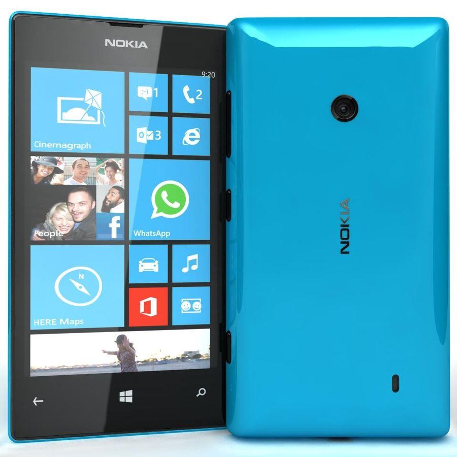 Nokia Lumia 520 Blue royalty-free modelo 3d - Preview no. 3