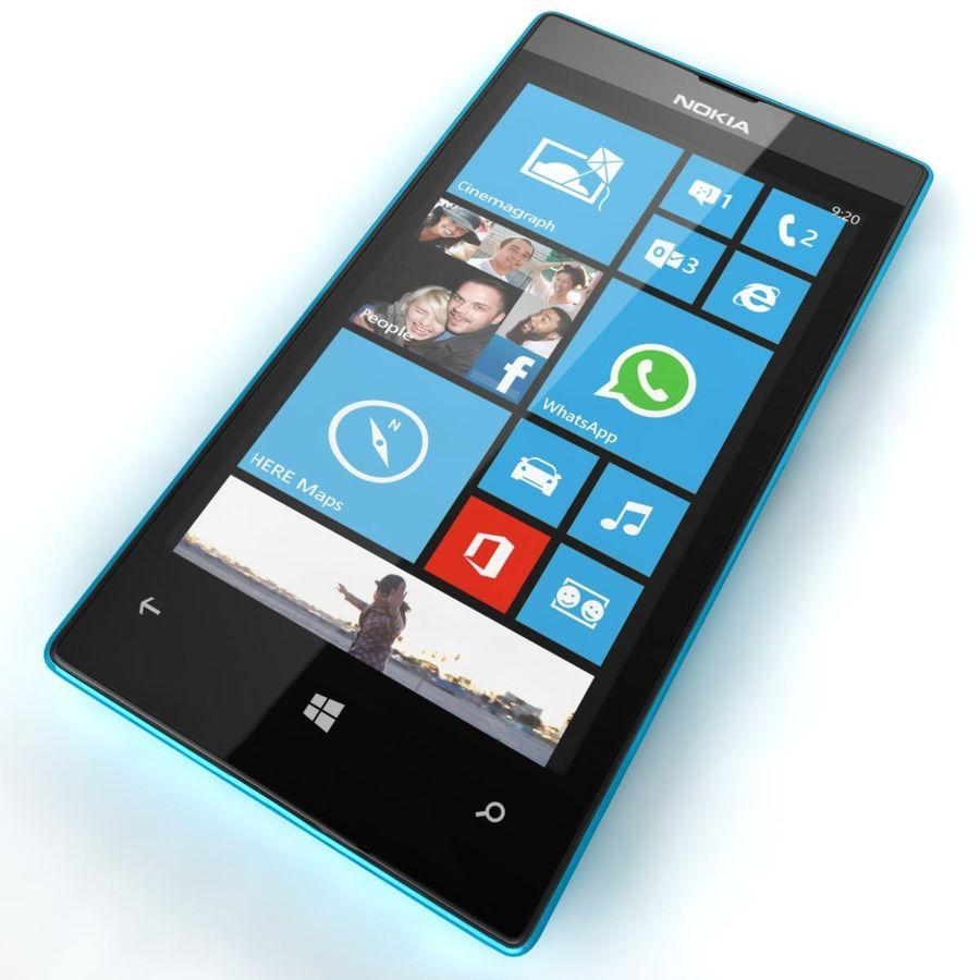 Nokia Lumia 520 Blue royalty-free modelo 3d - Preview no. 13
