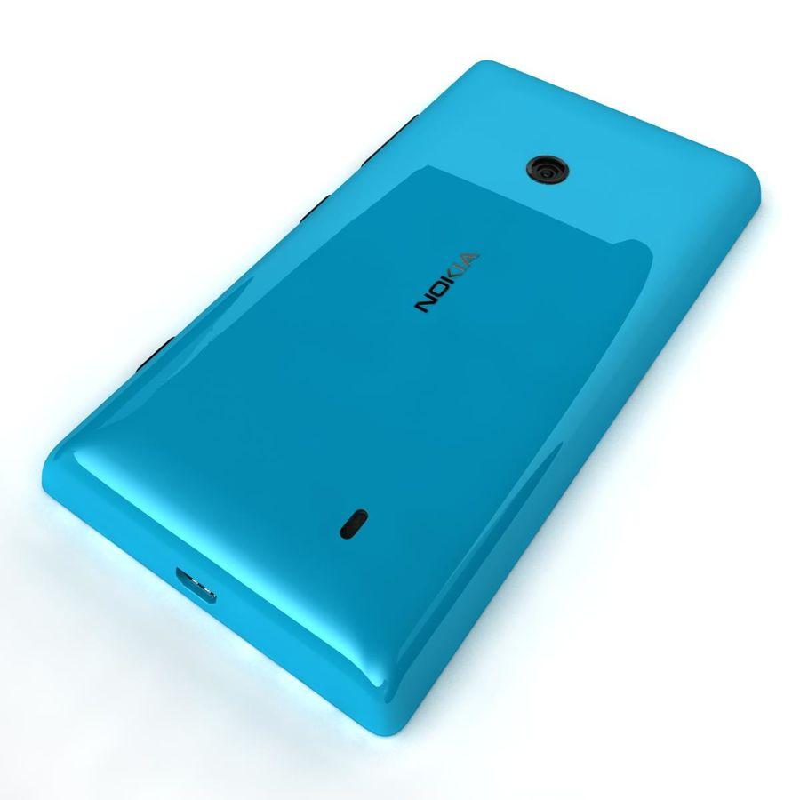 Nokia Lumia 520 Blue royalty-free modelo 3d - Preview no. 17