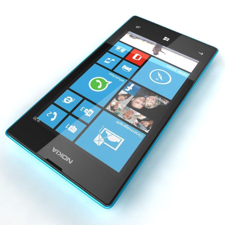 Nokia Lumia 520 Blue royalty-free modelo 3d - Preview no. 15