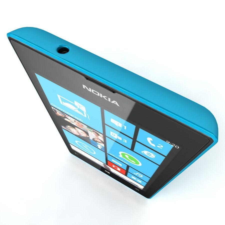 Nokia Lumia 520 Blue royalty-free modelo 3d - Preview no. 9