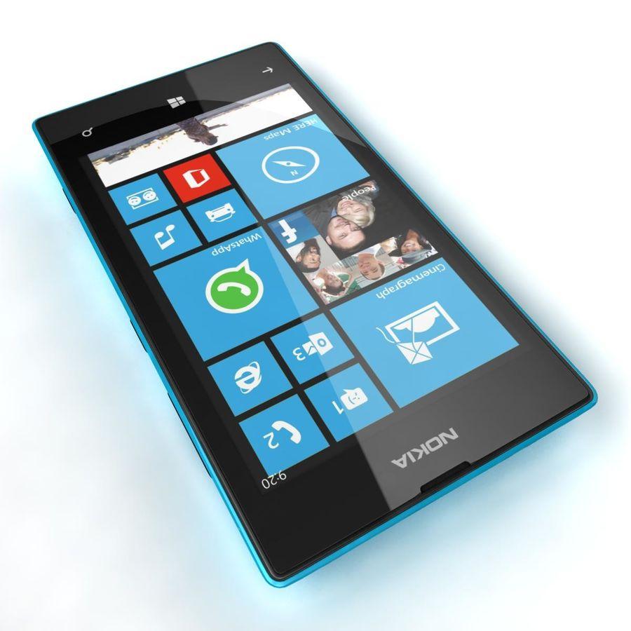 Nokia Lumia 520 Blue royalty-free modelo 3d - Preview no. 14