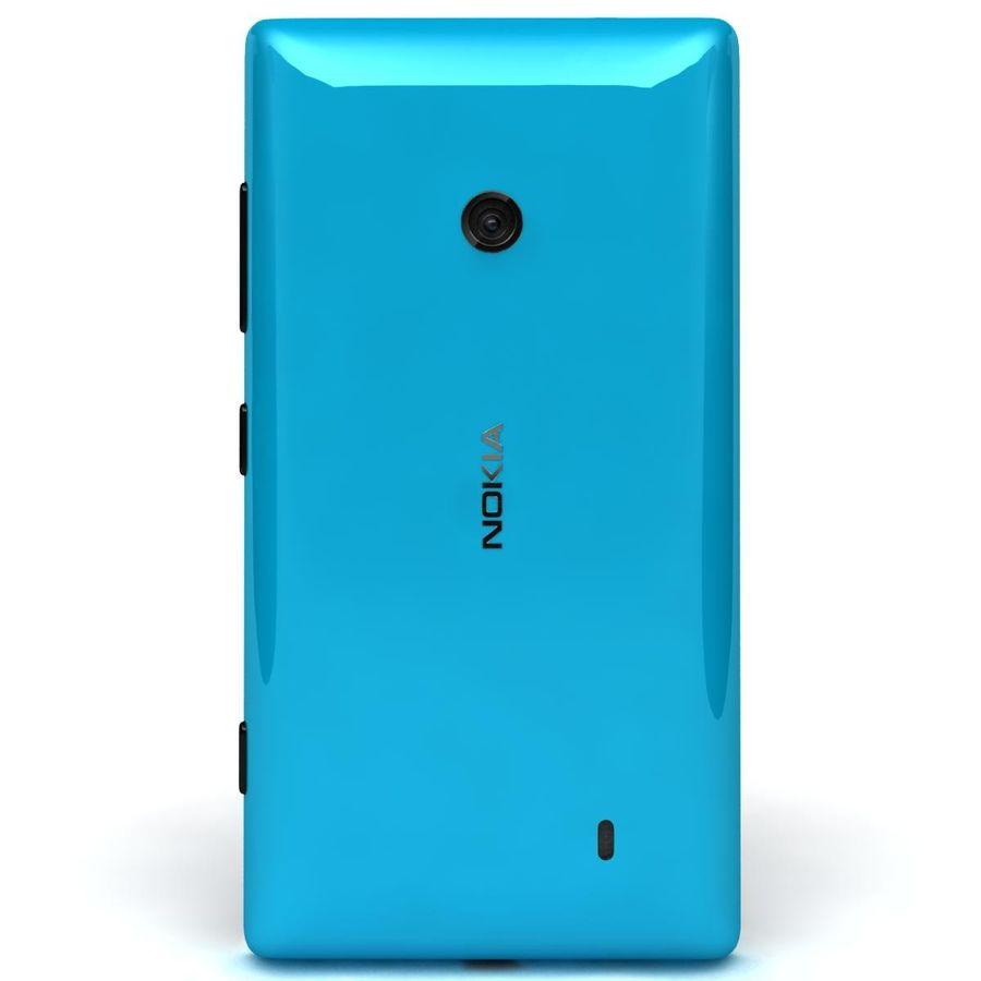 Nokia Lumia 520 Blue royalty-free modelo 3d - Preview no. 6
