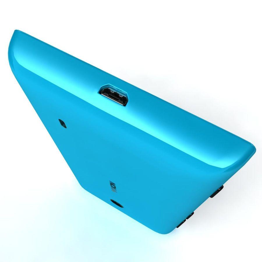 Nokia Lumia 520 Blue royalty-free modelo 3d - Preview no. 12