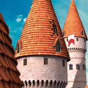 Cartoon Schlossturm 3d model