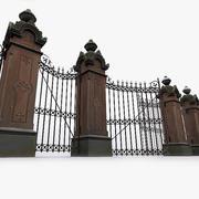 Portões do parque fotorrealista 3d model