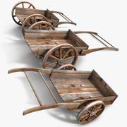 Wood Medieval Transport Cart 3d model