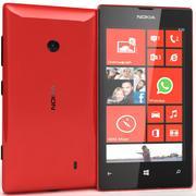 Nokia Lumia 520 Vermelho 3d model