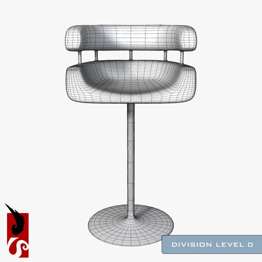 Bar Stool royalty-free 3d model - Preview no. 7