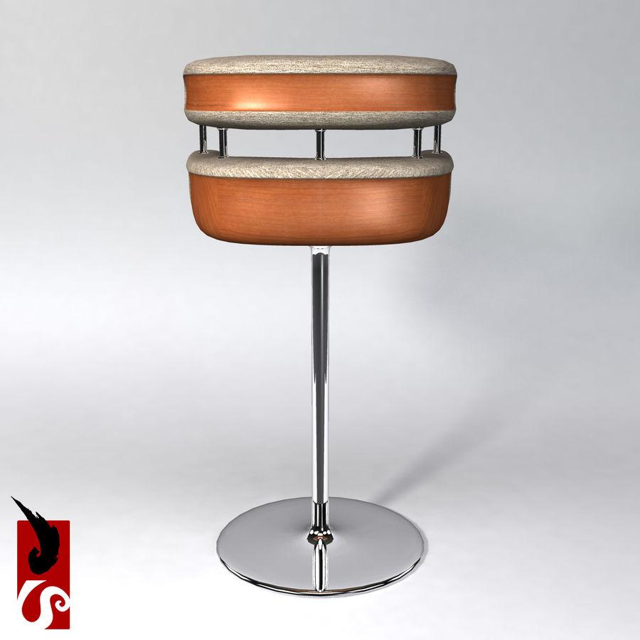 Bar Stool royalty-free 3d model - Preview no. 6