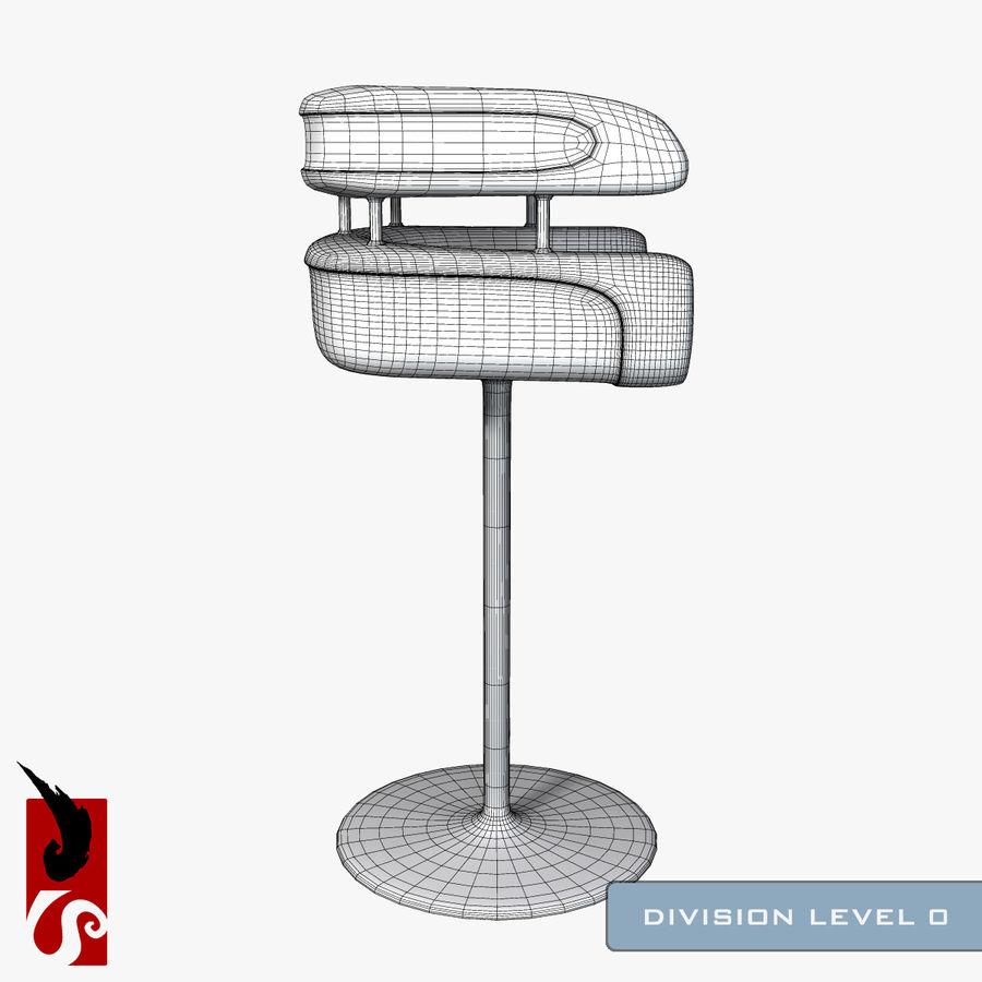 Bar Stool royalty-free 3d model - Preview no. 9