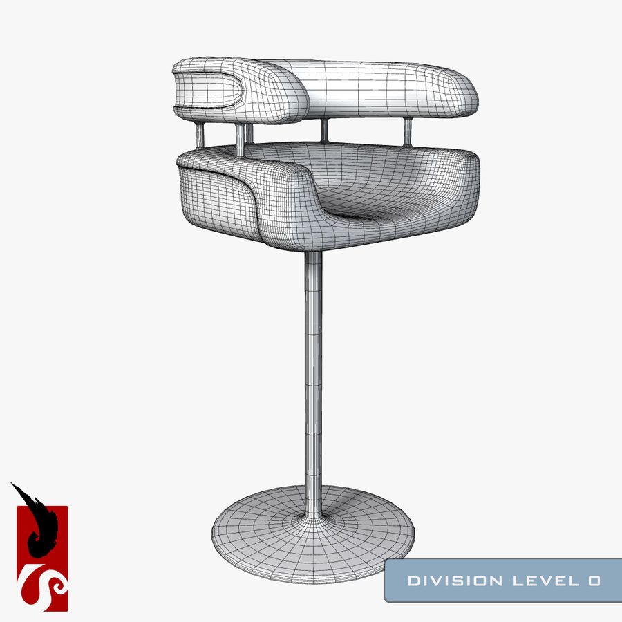 Bar Stool royalty-free 3d model - Preview no. 8