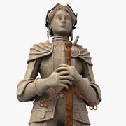 Vrouw held standbeeld 3d model