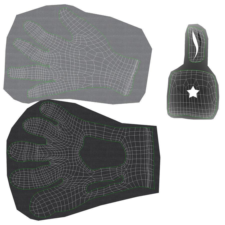 Перчатка Спорт royalty-free 3d model - Preview no. 18