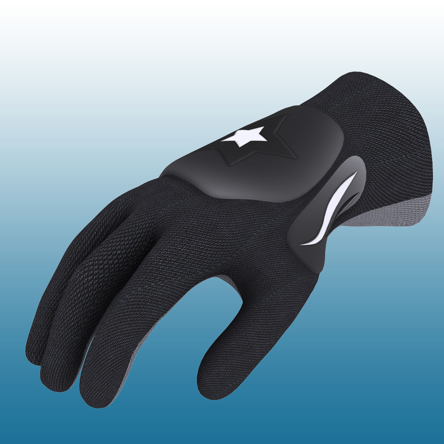 Перчатка Спорт royalty-free 3d model - Preview no. 2