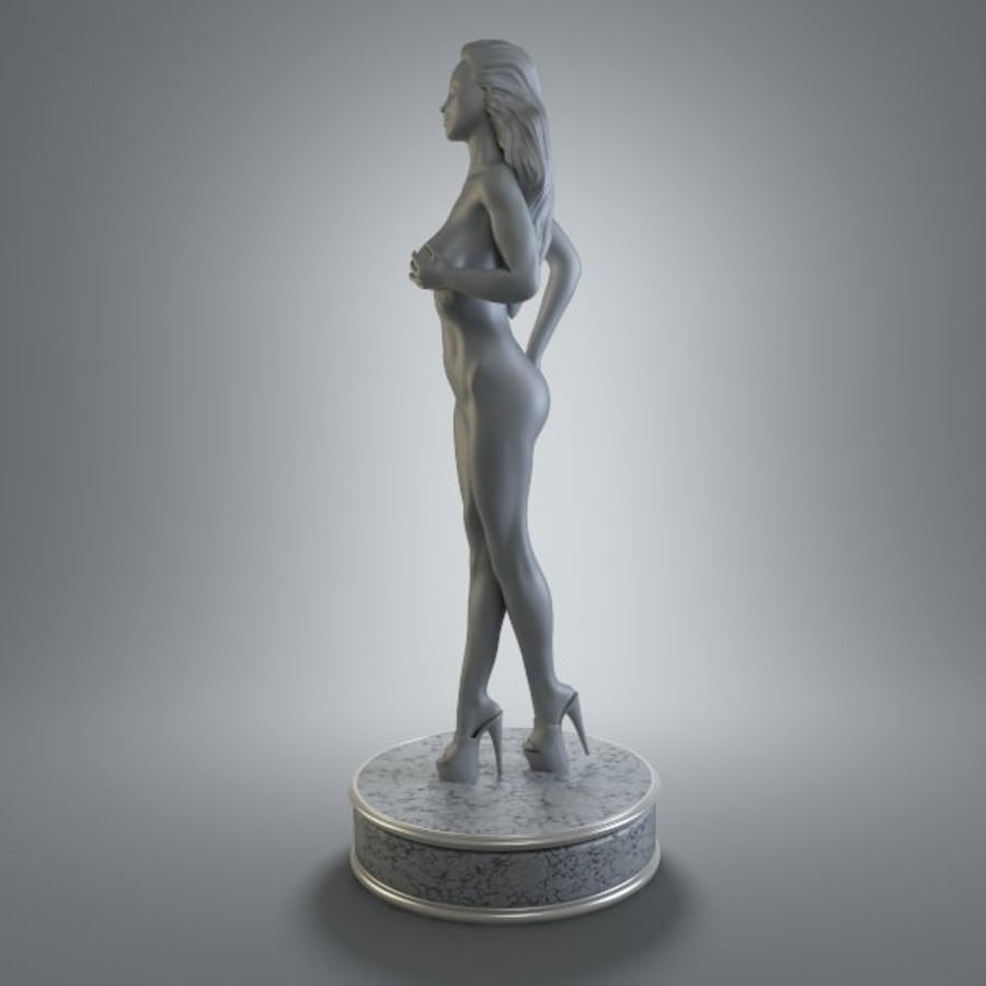 Fille de sport royalty-free 3d model - Preview no. 5