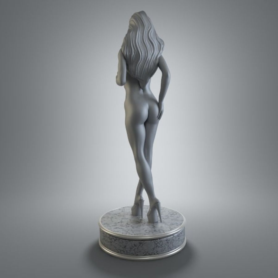 Fille de sport royalty-free 3d model - Preview no. 4