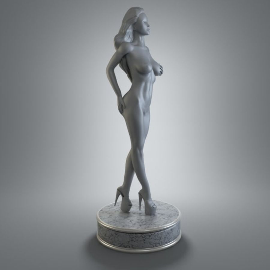 Fille de sport royalty-free 3d model - Preview no. 2
