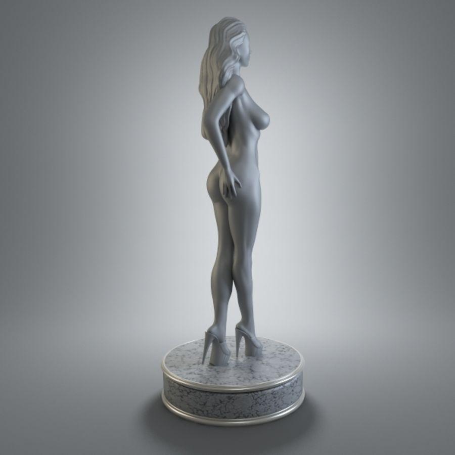 Fille de sport royalty-free 3d model - Preview no. 3