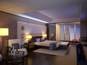 Modern hotel room. Interior scene 3d model