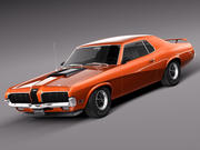 Mercury Cougar 1970 3d model