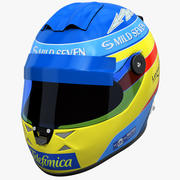 Casque de course Renault 3d model