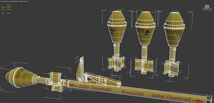 PanzerFaust 100m royalty-free 3d model - Preview no. 18