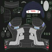 Гоночный шлем Toyota 3d model