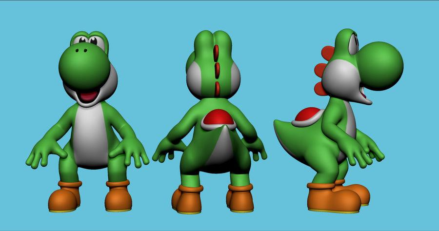 Mario i Yoshi royalty-free 3d model - Preview no. 4